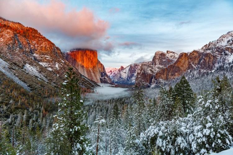 Yosemite in the snow