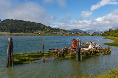 The Mary D. Hume at the mouth of the Rogue River