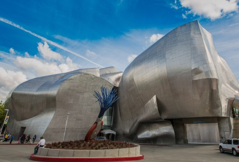 Side entrance of the EMP Museum – Photo by Linda Norvelle