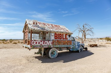 Leonard Knight's truck he lived in while making Salvation Mountain