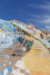 Yellow Brick Road leading to the top of Salvation Mountain