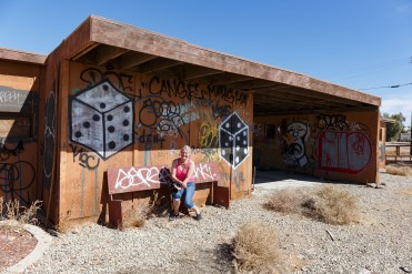 This is a typical view in Bombay Beach