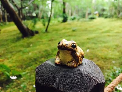 陶器のカエル