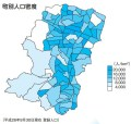港北区内の人口密度