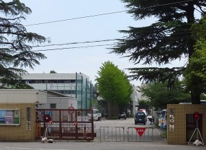 木月4丁目の綱島街道沿いにある神奈川県警第二機動隊は、警察学校木月分校と併設