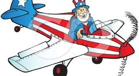 July Fourth Airplane