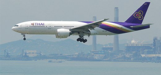 Thai Airways Landing HKG