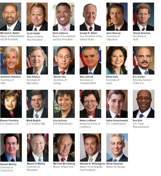 "273 Mayors ""confer"" in Washington, DC."