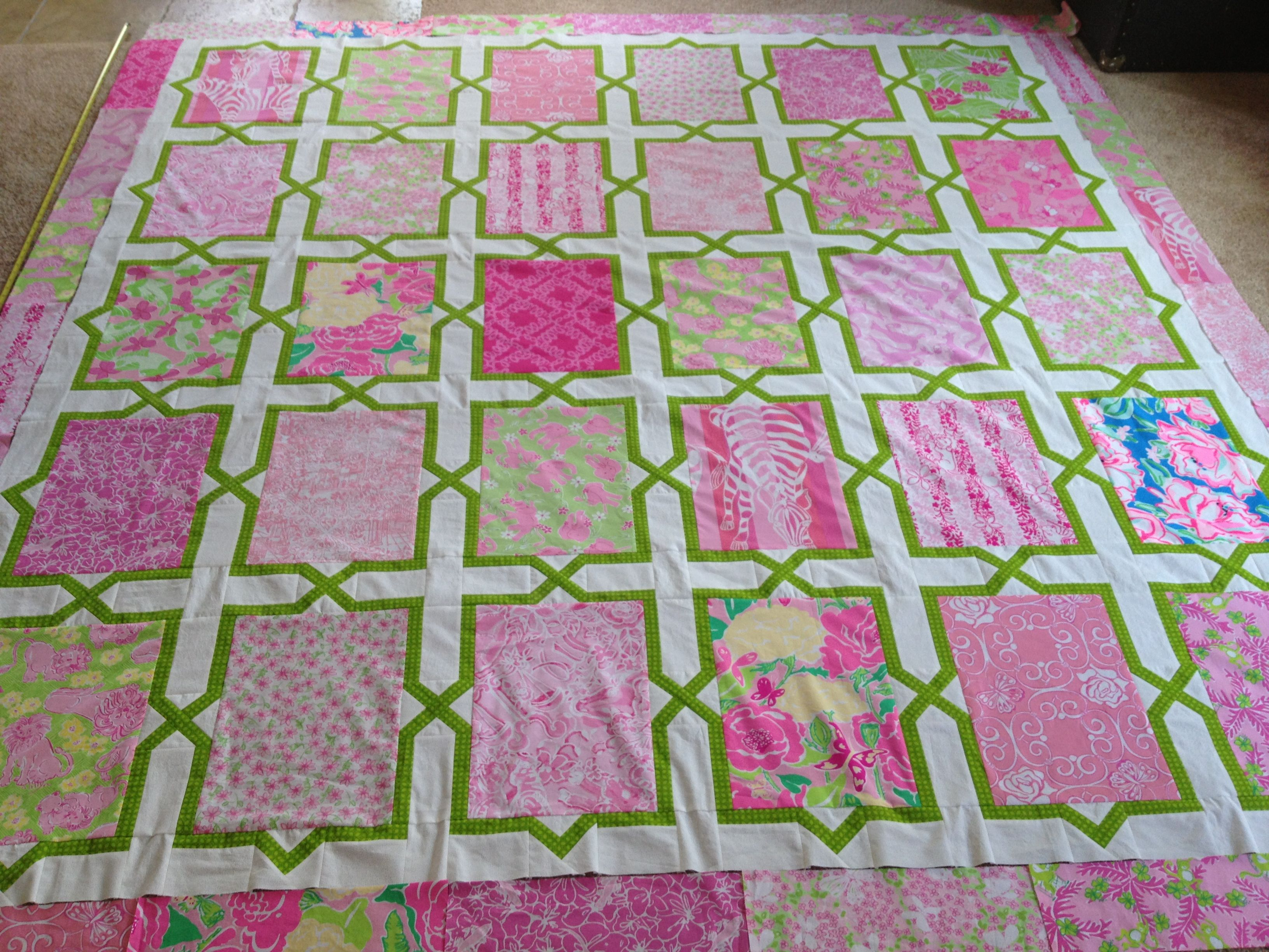 Glomorous Lilly Quilt Lilly Pulitzer Hmh Designs Lilly Pulitzer Fabrics By Yard Lilly Pulitzer Fabric Squares houzz-02 Lilly Pulitzer Fabric