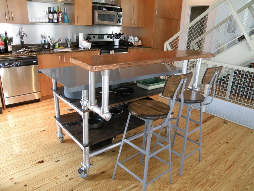 12 diy kitchen island designs ideas diy kitchen ideas THE ALEWOOD KITCHEN ISLAND CART