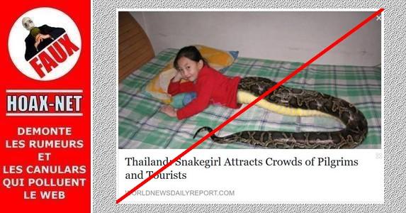 Non, cette petite fille Thaïlandaise n