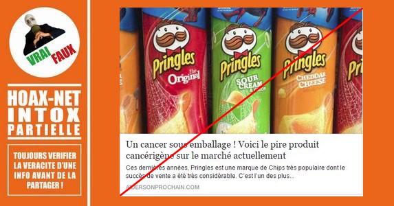 Pringles, acrylamide et cancer : mise au point