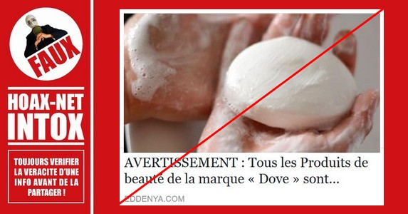 Non, les ingrédients employés dans les produits «Dove» ne sont pas cancérigènes  !
