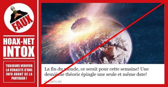 Non, la fin du monde n