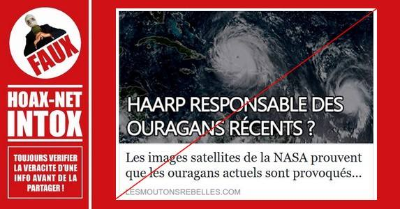 Non, les ouragans ne sont pas créés par l