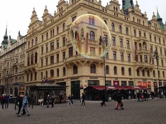 チェコプラハ観光で市民会館からカレル橋まで徒歩で散歩①