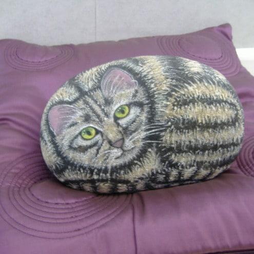 Tabby Cat Doorstop - Folksy