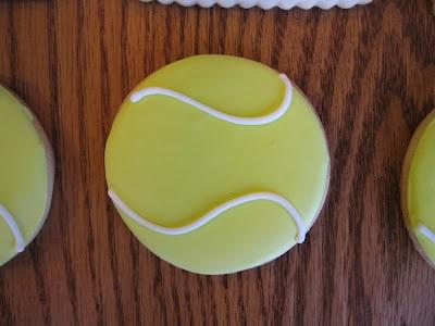 tennis ball cookies