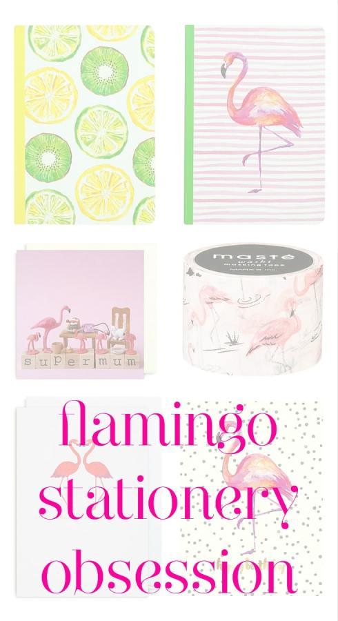 Flamingo stationery obsession