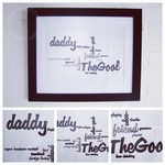 Craft ideas for kids: easy framed word cloud gift