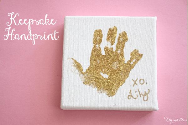 glitter handprint gift