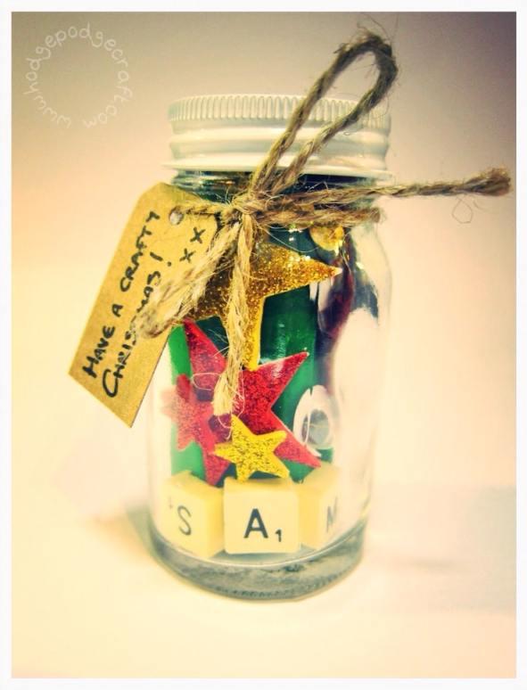 Mini Christmas craft jars for kids