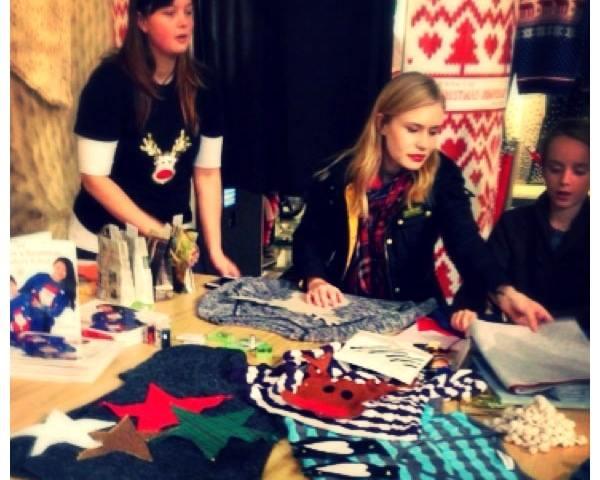 Christmas jumper customisation free workshop