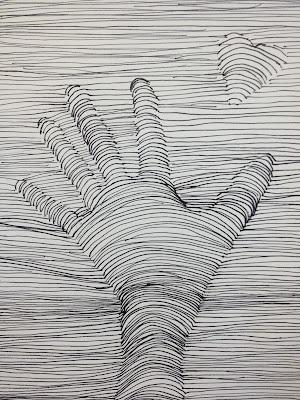 op-art heart drawing