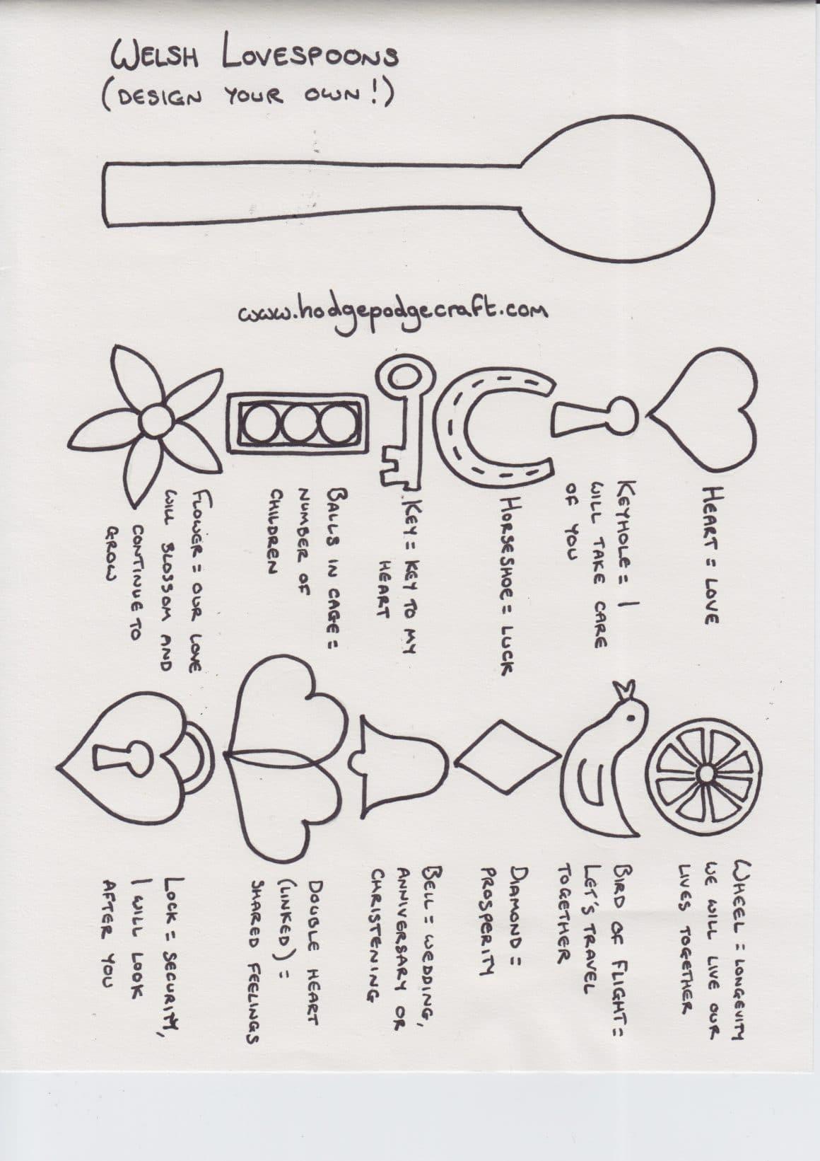 st david 39 s day crafts love spoons daffodils. Black Bedroom Furniture Sets. Home Design Ideas