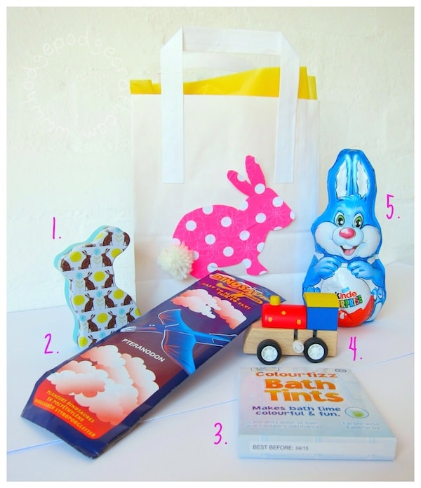Easter bunny bag contents