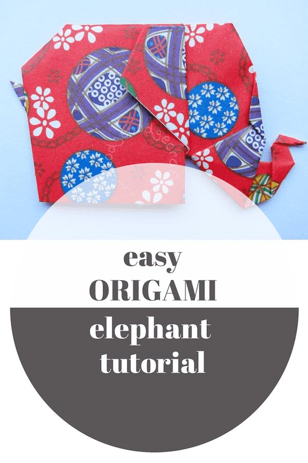 easy origami elephant Pin