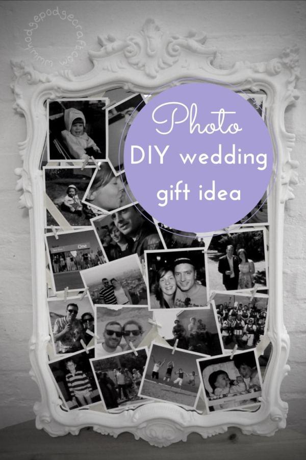 DIY wedding idea photo gift