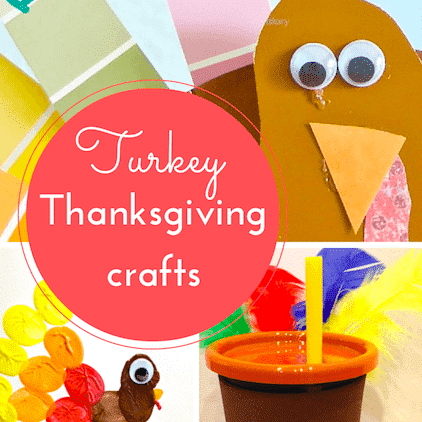 Turkey crafts for Thanksgiving thumbnail