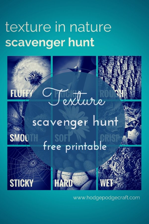 Texture scavenger hunt Pin