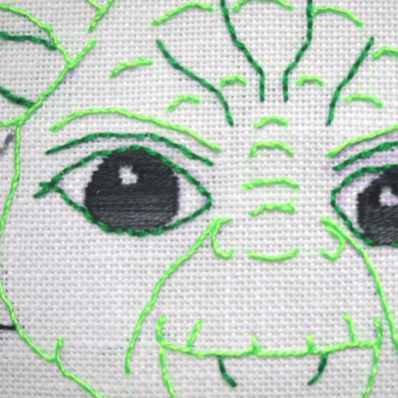 Star Wars kids' embroidery: Yoda quote