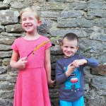 kids with finished sticks