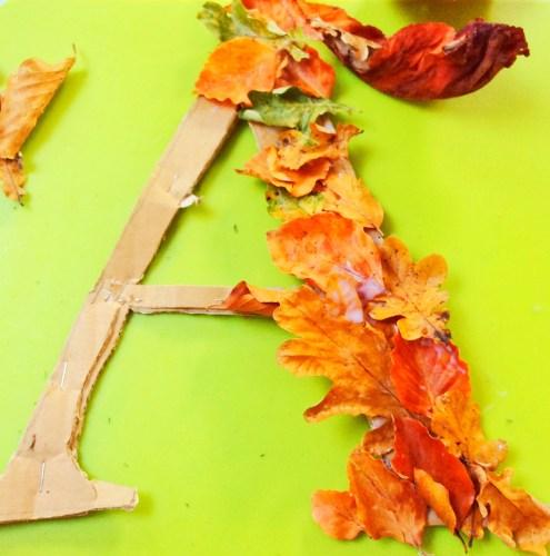 autumnal alphabet wreaths