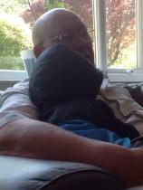 Cuddles with Grandad