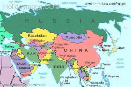 Map world asia map of asia countries world map of images gumiabroncs Choice Image