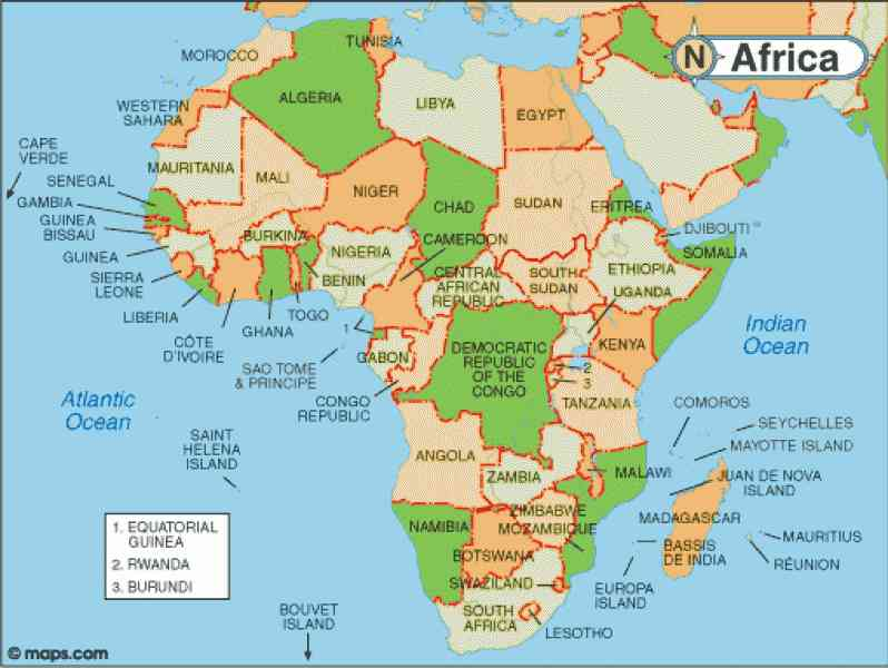 map of africa s natural resources