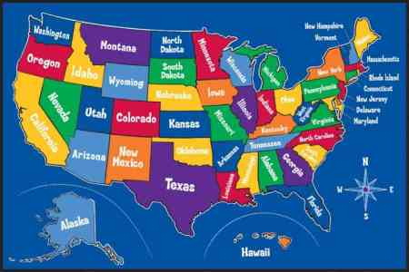 kids united states map map holiday travel