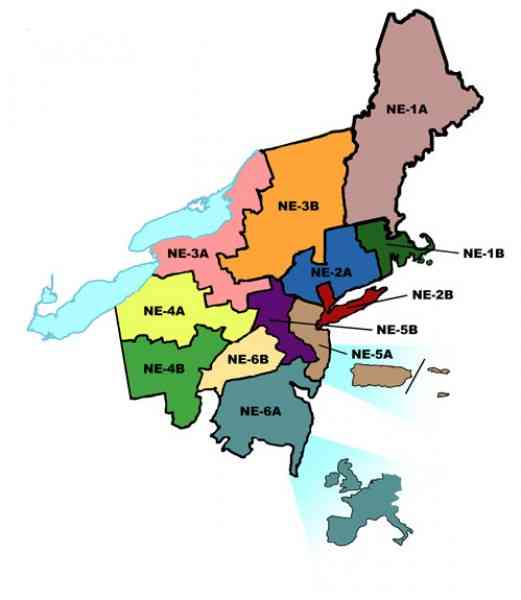 Map Of Northeast Us Region - Northeast region us map