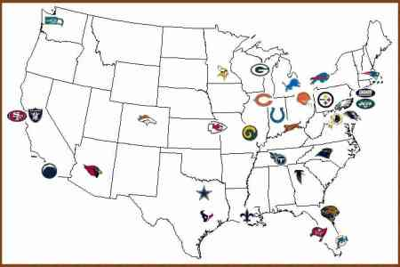 Map team map of nfl teams 3 sciox Choice Image