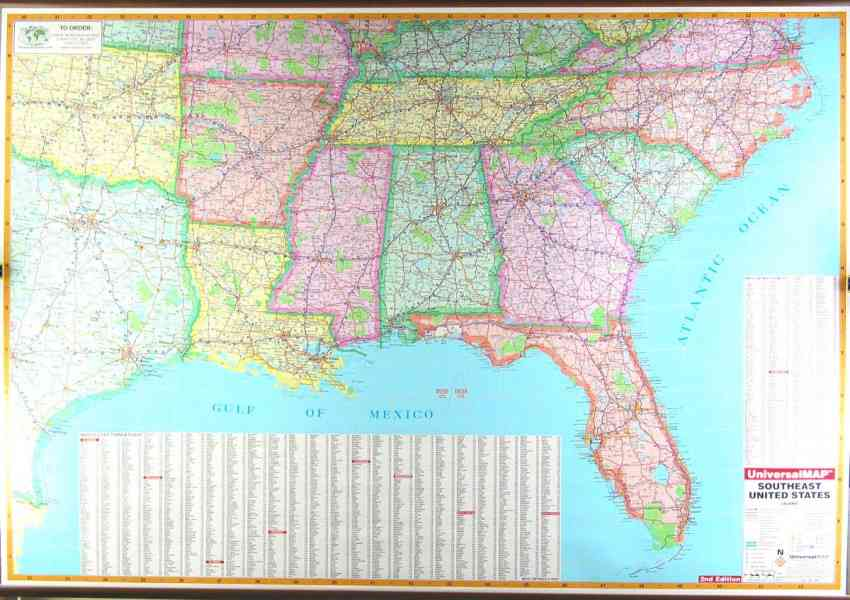 Map Of South East Usa Map Usa Map Images