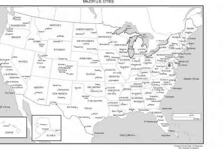 map of the united states major cities map holiday