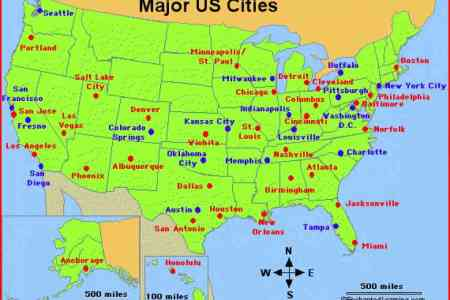 map of the united states major cities 4 usa 352047