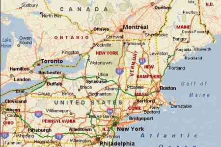 Map Of Ne Usa - Ne map of usa