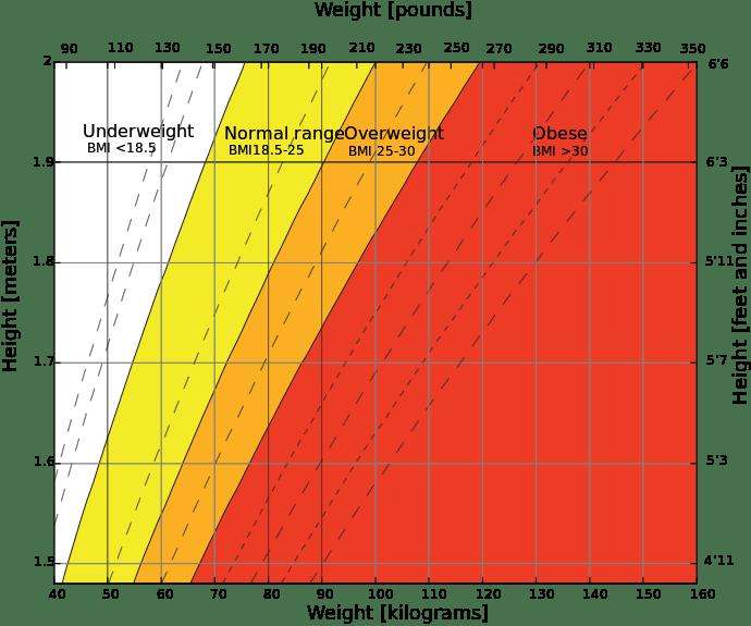 Body mass ndex chart