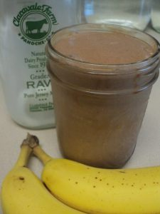 healthy hormone banana milkshake sugarfree