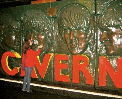 Having a moment with John at the Cavern Club, pre-Yoko.